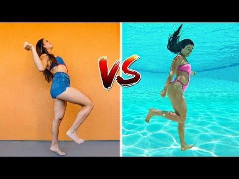 Underwater Dance Challenge! Dancing Underwater