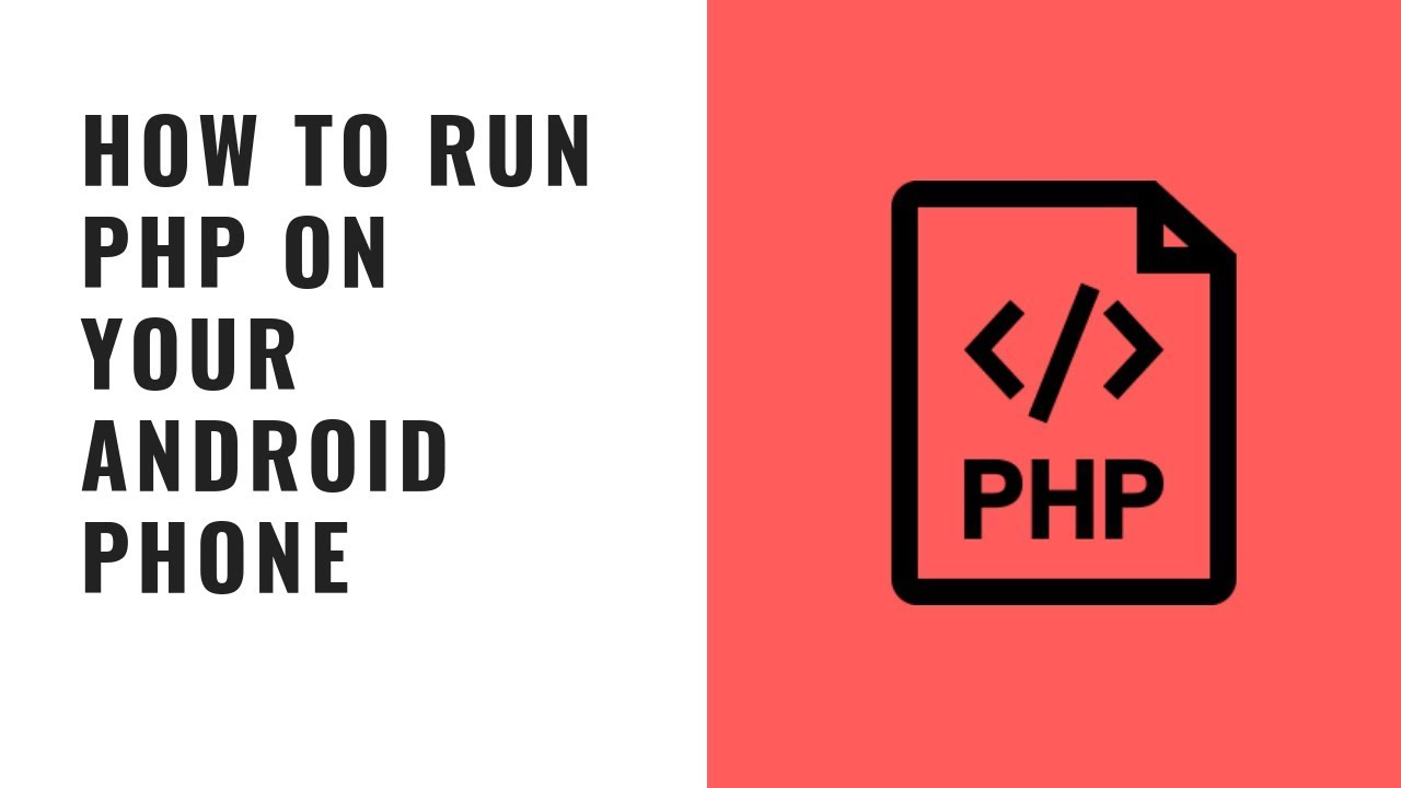 how to run php on your android phone