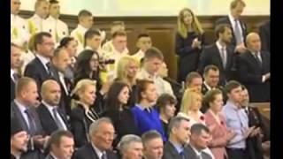 Митрополит Киевский Онуфрий демонстративно не встал перед Порошенко.
