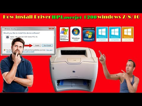 How To Install Hp Laserjet 1200 Windows 7 8 8 1 10