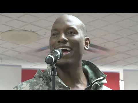 Tyrese at Fort Hood
