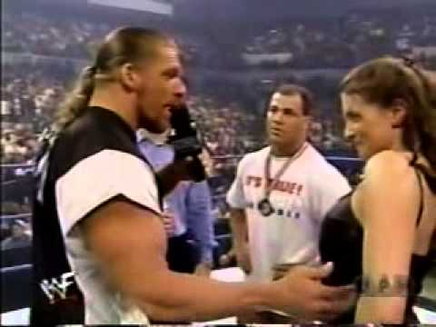 Triple H and Stephanie Mcmahon in Ring 170800 YouTube