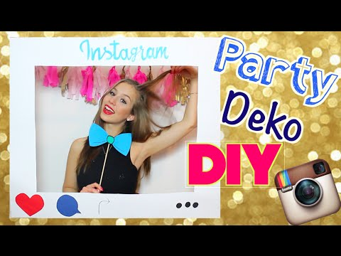 DIY PARTY DEKORATION - Glitzer Sektflasche, Instagramrahmen & Co.