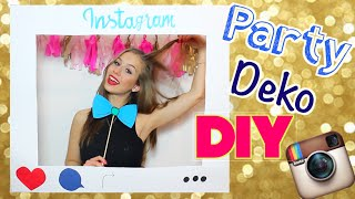 DIY PARTY DEKORATION - Glitzer Sektflasche, Instagramrahmen & Co. //  Cali Kessy