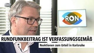 Rundfunkbeitrag ist verfassungsgemäß | RON TV |