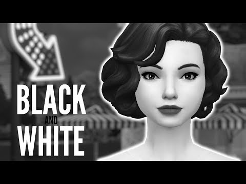 BLACK AND WHITE CAS CHALLENGE - The Sims 4 Create A Sim