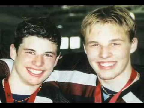 Sidney Crosby and Jack Johnson at Shattuck St Mary's