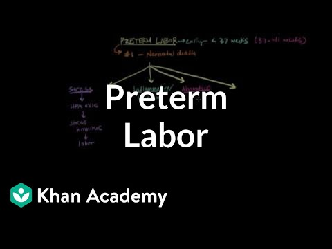 Preterm labor | Reproductive system physiology | NCLEX-RN | Khan Academy