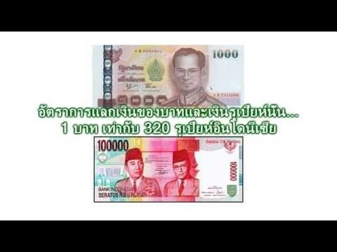 อัตราแลกเงินไทยกับเงินรูเปียห์อินโดนีเซีย