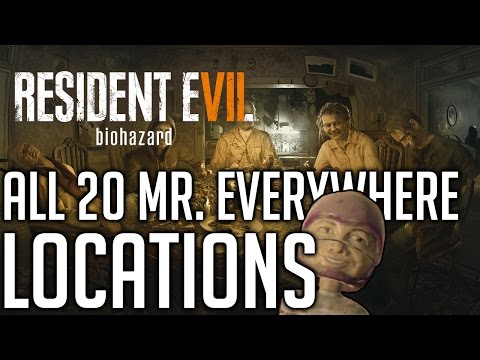 Resident Evil 7 ALL 20 MR. EVERYWHERE LOCATIONS