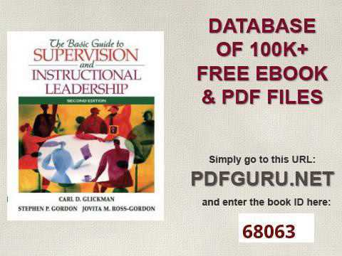 The Basic Guide To Supervision And Instructional Leadership 2nd