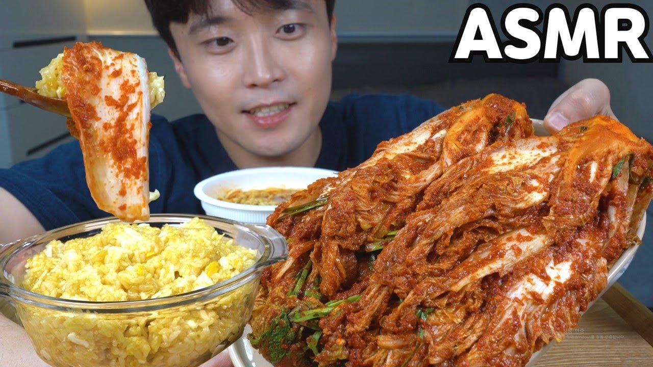 [와차밥] 갓담근 김치 맛있게 먹기👍 간장계란밥 육개장 컵라면 리얼사운드먹방 요리 레시피 MUKBANG ASMR REAL SOUND EATING SHOW COOKING RECIPE