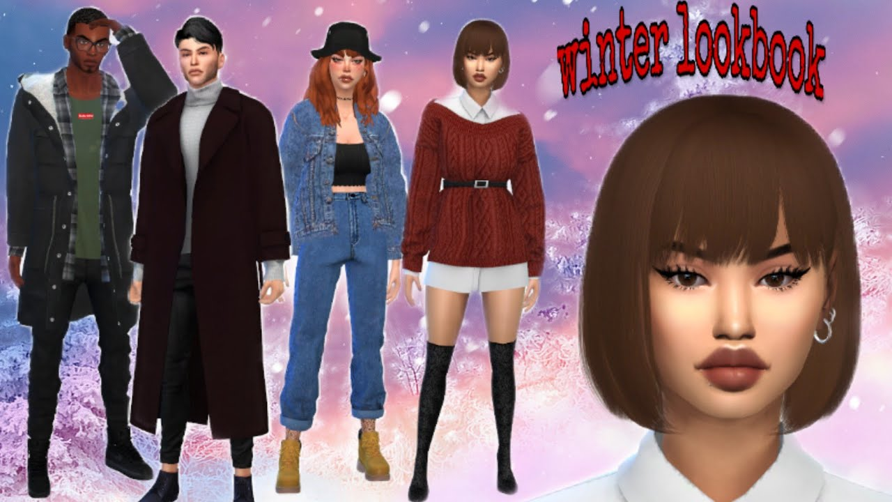 [VIDEO] - The Sims 4 WINTER LOOKBOOK +CC LINKS!! (The Sims 4 CC Shopping Therapy & Lookbooks #5) 1