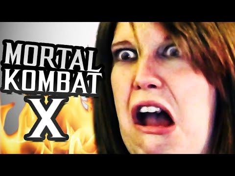 Girlfriend Reacts to FATALITIES in Mortal Kombat X