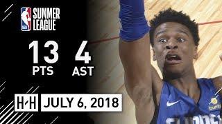 Shai Gilgeous-Alexander Full Clippers Debut Highlights vs Warriors - Summer League - 13 Pts