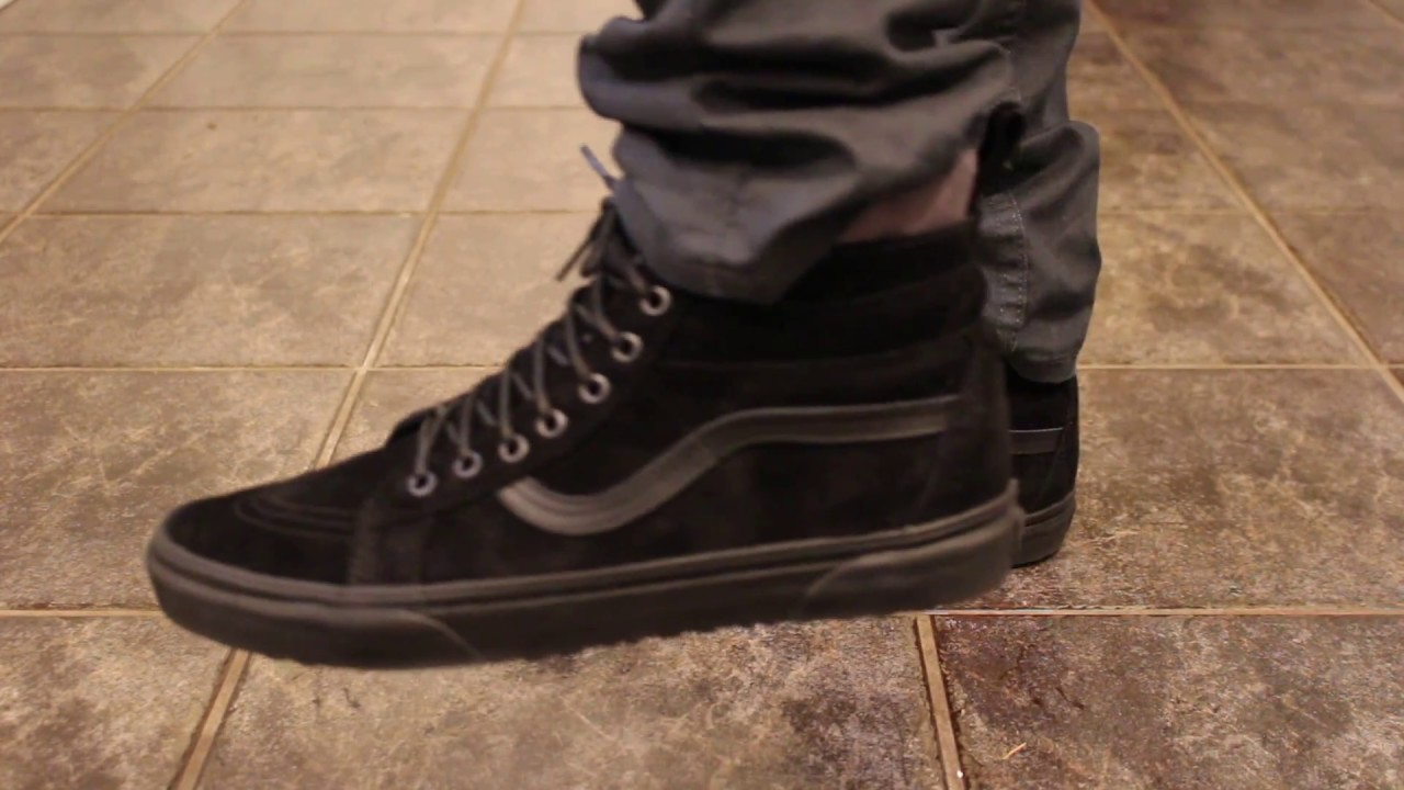a099a85a30 Vans SK8-HI MTE DX Black Camo ON FEET - YouTube