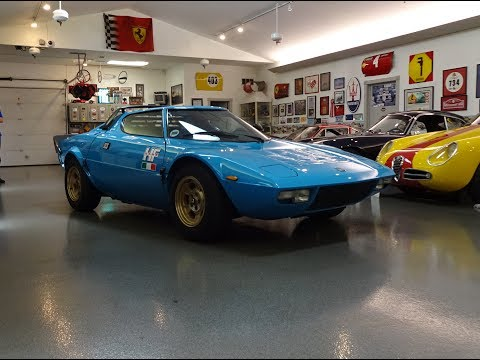 1975 Lancia Stratos HF High Fidelity in Blue & V6 Engine Sound on My Car Story with Lou Costabile