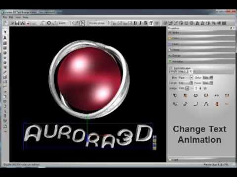 Create 3D Logo Animation by Aurora 3D Text & Logo Maker