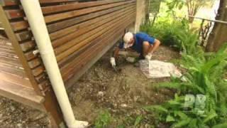 cleaning asbestos cement debris.mpg