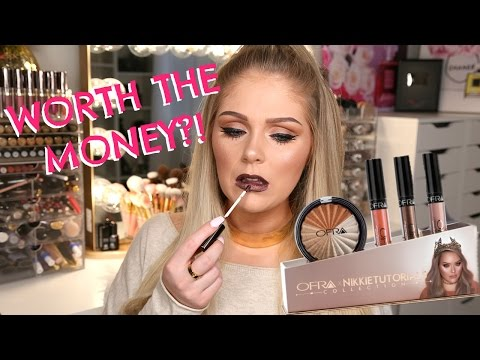 NIKKI TUTORIALS X OFRA COLLAB SWATCHES + FIRST IMPRESSIONS REVIEW