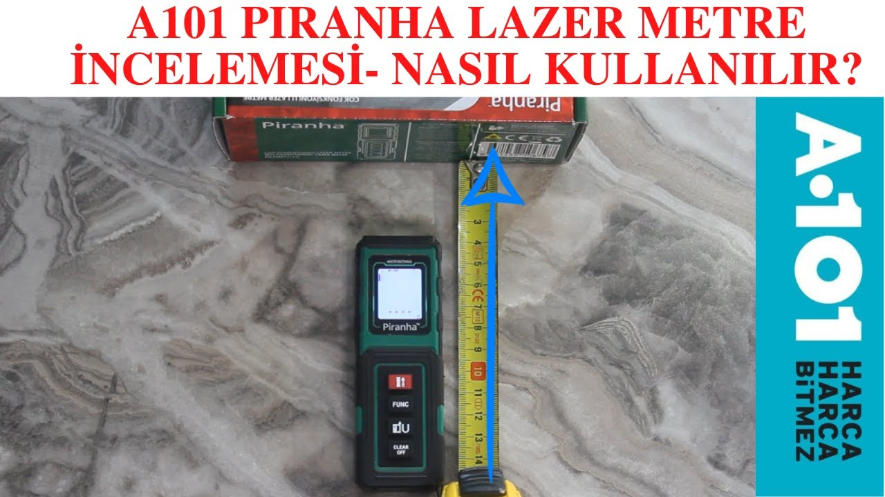 A101 - PİRANHA Lazer Metre incelemesi. Nasıl Ölçüm Yapılır?