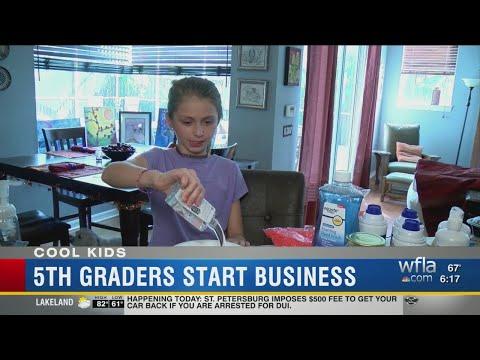 Kids start slime-making business