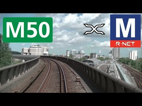 🚇 GVB R-net Amsterdam Metrolijn 50 Cabinerit Gein - Isolatorweg Driver's view