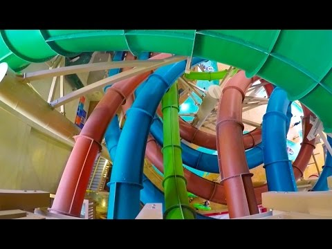 [HD] Wolf Tail - DROP OUT Slide at Great Wolf Lodge (Garden Grove, CA)