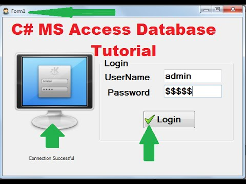 C# MS Access Database Tutorial 4 # Add pictures and icons in Frame