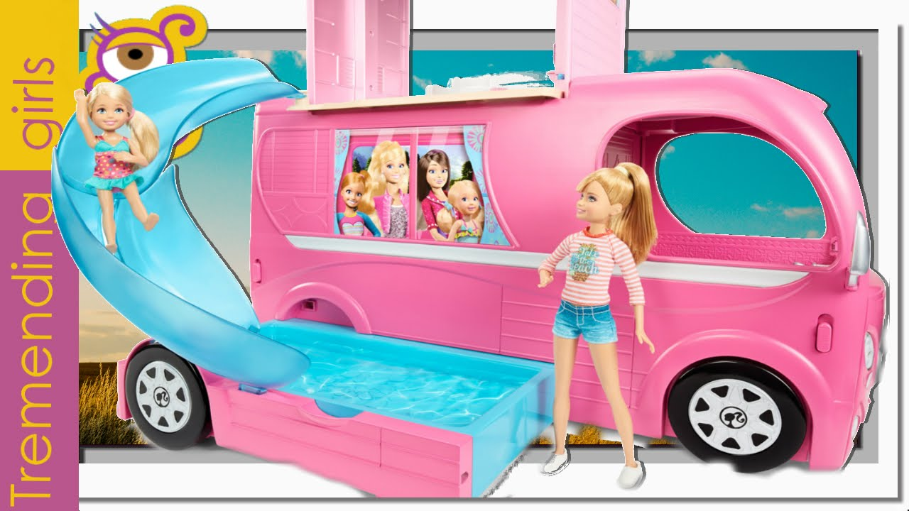 Barbie Nueva Caravana Superdivertida 2015 Barbie Pop Up Camper
