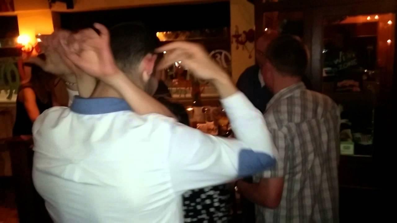 reece pulling a drunk french woman at fat fajita march