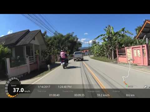 Mae Rim to Chiang Dao, Thailand by Motorbike - with GPS track in KPH