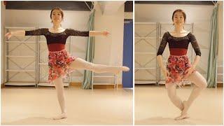 バレエの動き「フォンデュ」で脚力をつけ、ヒップと体幹を引き締めるエ...