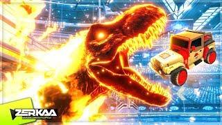 *NEW* JURASSIC WORLD DLC IN ROCKET LEAGUE! (Rocket League)