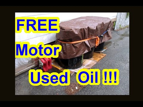Free used motor oil veggie oil how to get for my oil for Burning used motor oil for heat