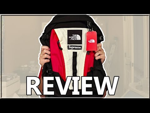 17e28bb7587 Supreme x The North Face Expedition Backpack Review (Red) - YouTube