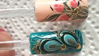 Дизайн ногтей.Тюльпаны и Перо Павлина.Nail Art.Tutorial(Привет друзья!В этом видео я покажу вам как рисовать тюльпаны и перо павлина!Если вам понравилось мой масте..., 2016-03-29T08:47:20.000Z)