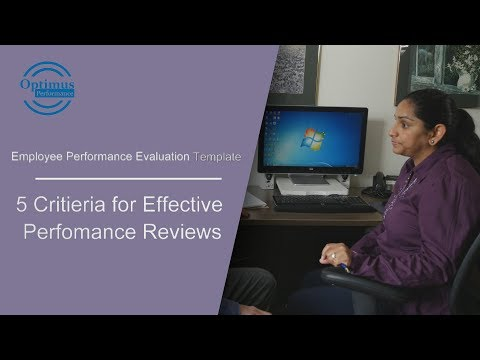 Employee Performance Evaluation Criteria and Template