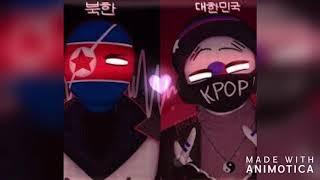 South Korea x North Korea shippost \countryhumans\
