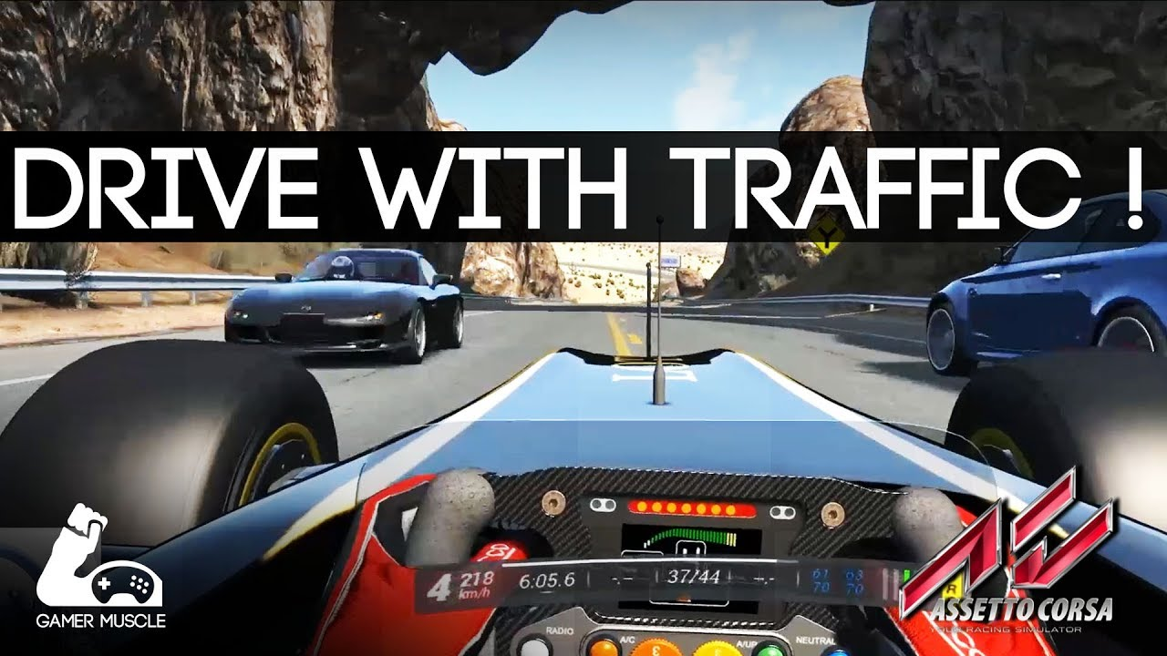THIS SHOULD BE A GAME MODE IN ALL SIMS ! - ASSETTO CORSA ROAD TRAFFIC MOD