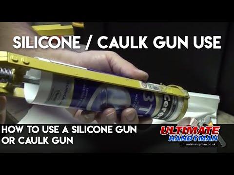 how to use a silicone gun or caulk gun