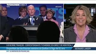 Disparition de l'ex-Premier ministre du Québec à l'âge de 81 ans
