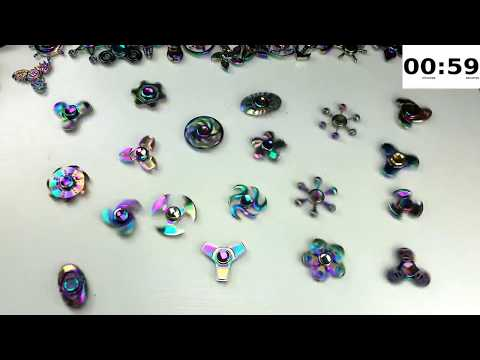 Which Rainbow Zinc Alloy Fidget Spinner has the Best Spin Time? : 6 Minutes!!!