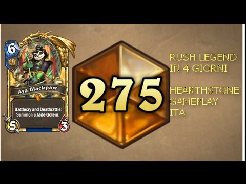 SCALARE LEGEND IN 4 GIORNI!!! - HEARTHSTONE ITA GAMEPLAY