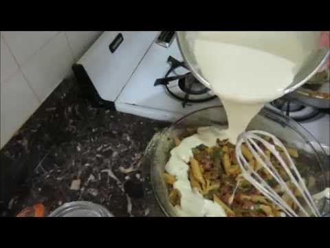 Легкий рецепт Наливной Пирог с Макаронами и Овощами  Pour Over Pie with Pasta and Vegetables