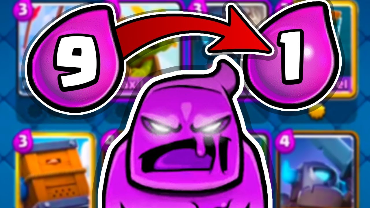BEST CARD at each Elixir Cost in Clash Royale!