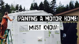 Painting the exterior of an Rv must knows!!!