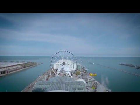 Navy Pier by drone in 4k DJI Phantom 4