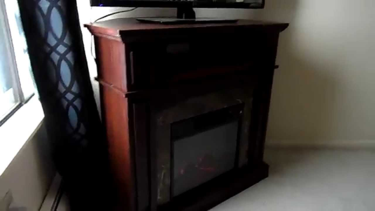 essential home electric finley corner fireplace youtube