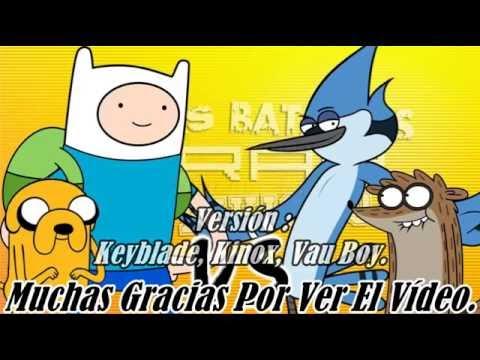 Mordecai Vs Finn el humano, Karaoke Español (Versión Keyblade, Kinox, Vau Boy)